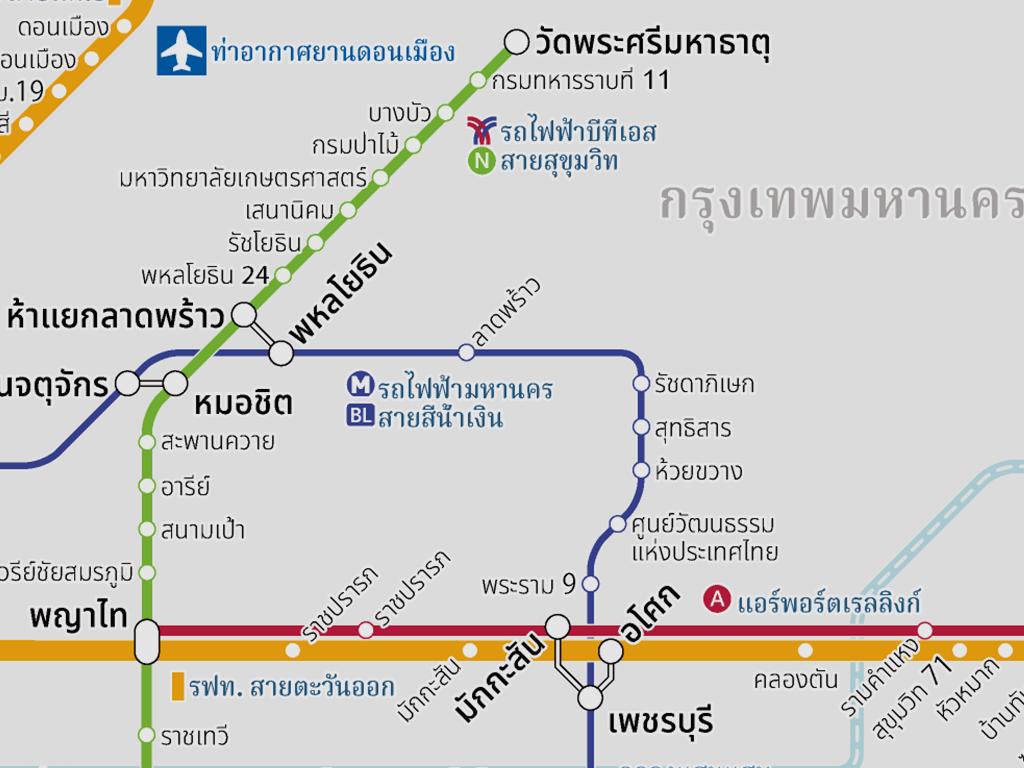BTS Sukhumvit Line extended from Kasetsart University Station to Wat Phra Sri Mahathat Station