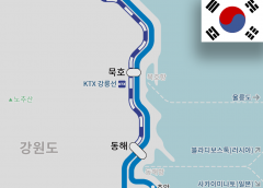 KTX Gangneung Line started to get to Donghae station