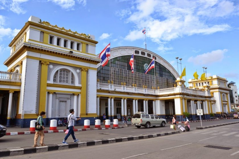 The station building of Bangkok Central Station (Hua Lamphong Station), which has been popular for a long time
