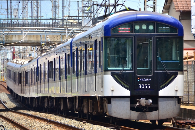 "Keihan 3000 series train to which ""Premium Car"" will be newly connected"