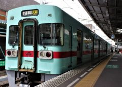 Nishitetsu type 6000 train on the Tenjin Omuta Line