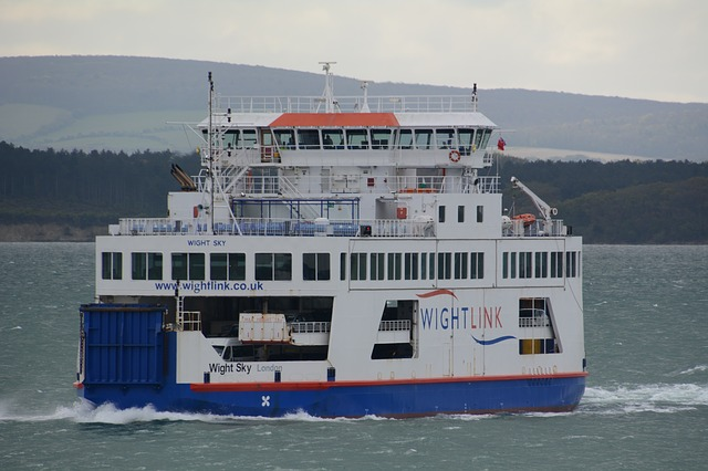 """Wightlink"" Ferry connecting Portsmouth and Isle of Wight"