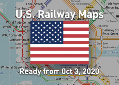 """App """"World Transit Maps"""" lands in the Americas! Free railway maps of United States will release"""