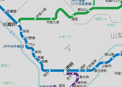 The station numbering on JR Chūō Line expanded between Hatsukari and Kobuchizawa stations