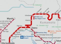 Resumed operation of JR Hōhi Line between Higo-ōzu and Aso after 4 years and 4 months