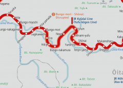 Disrupted operation on partial sections of JR Kyūdai Line and Hisatsu Line