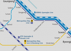 The Metropolitan Railway Suin Line was extended between Suwon and Hanyang University at Ansan, and started direct operation through into the Bundang Line
