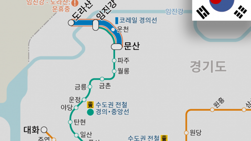 The operation between Imjingang and Munsan stations started as Metropolitan Railway Gyeongui-Jungang Line