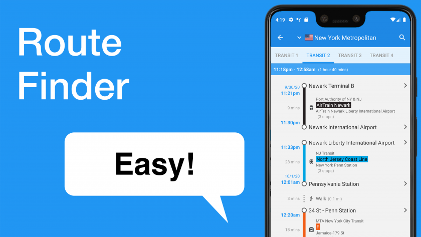 Easy! Route finder