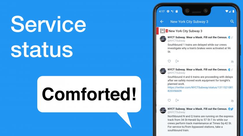Comforted! Service status