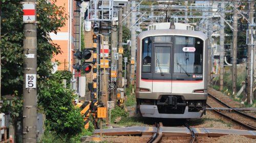 The vehicle of the Tokyu Toyoko Line