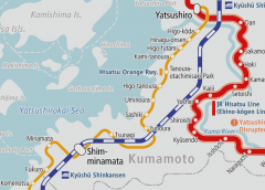 Resumes operation for the first time in 4 months between Yatsushiro and Sashiki on the Hisatsu Orange Railway