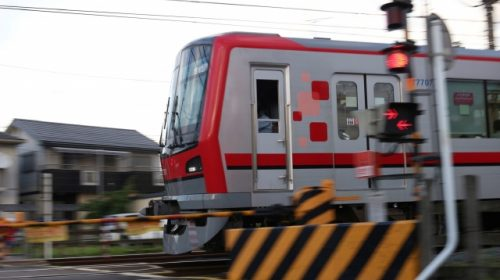 The 70000 series train on Tobu Skytree Line