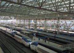 KTX vehicles stopping at Seoul Station ©Katsumi