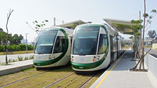 Ultra-low-floor vehicle manufactured by Spanish CAF, which is in commercial operation on the Kaohsiung Light Rail