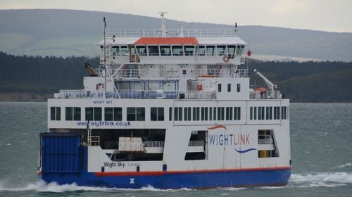 """""""Wightlink"""" Ferry connecting Portsmouth and Isle of Wight"""